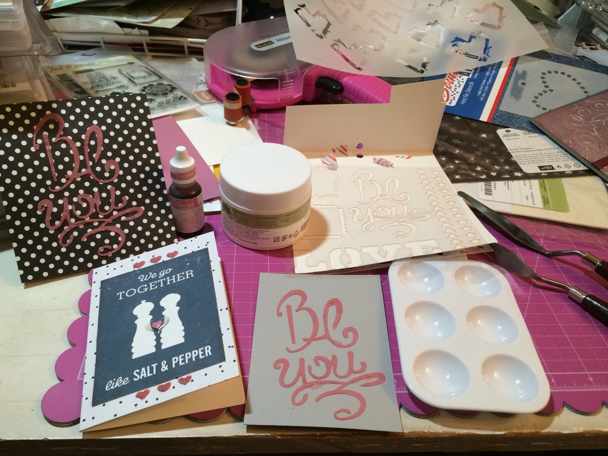 Lessons in Stampin' Up's Embossing Paste