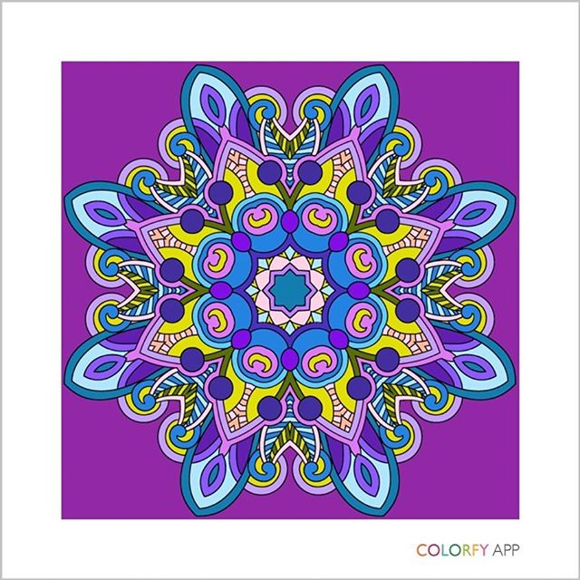 Playing around with a new app called Colorfy and thought I made something pretty. :)