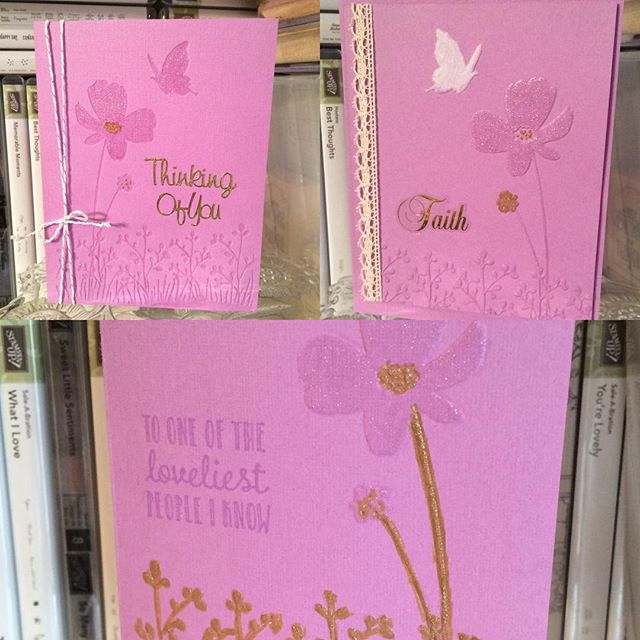 One Embossing Folder, Three Looks (Including SU Hanging Garden)