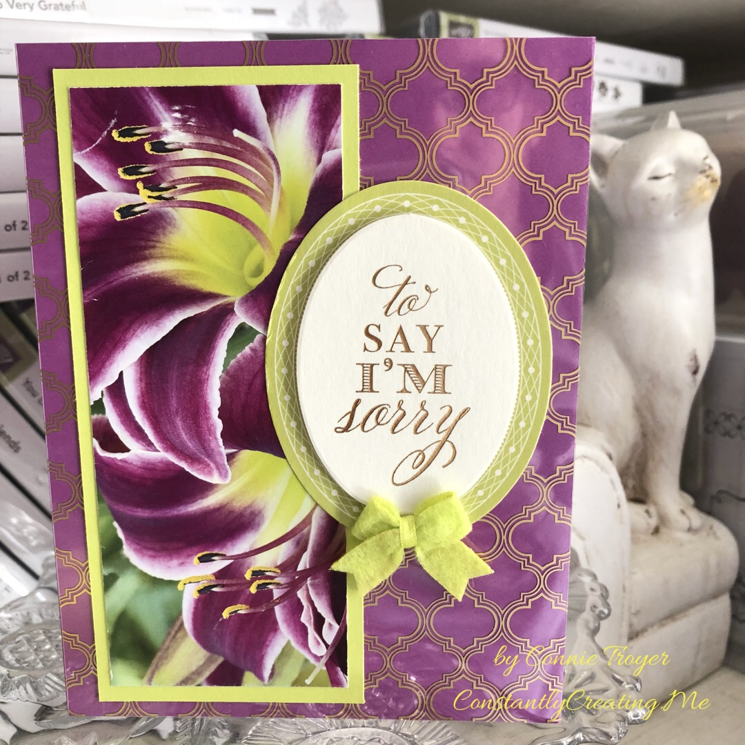 Lemon Lime Twist Green and Marvelous Magenta Lilies Sympathy