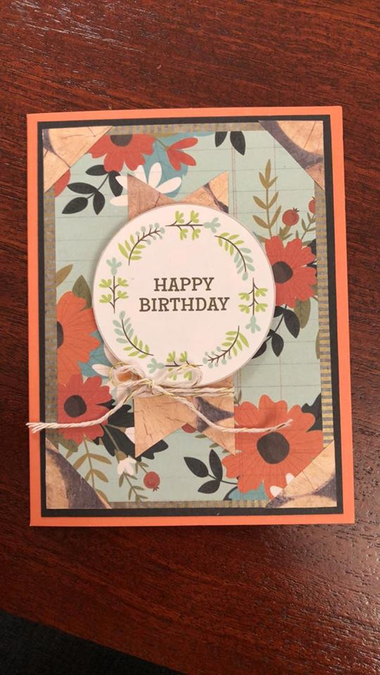 Happy Birthday Card with UK in WV