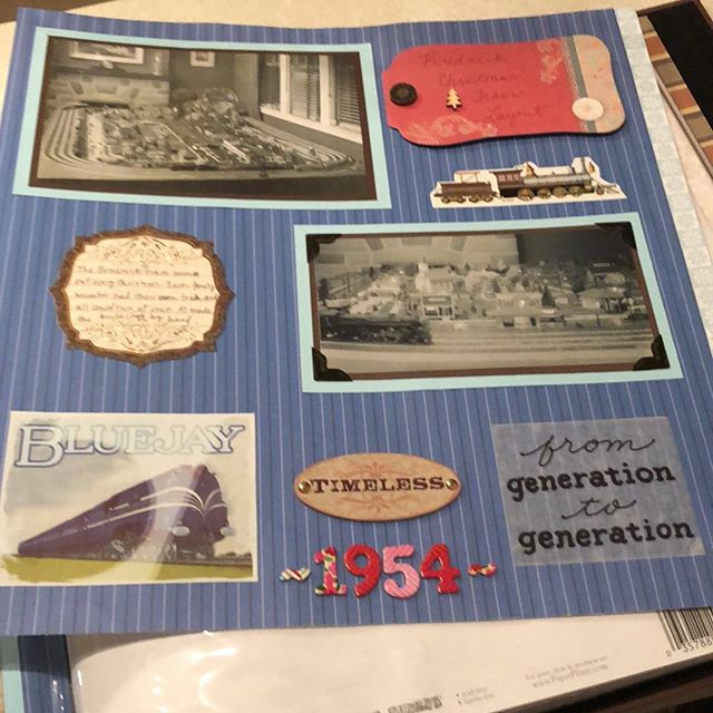 1954 Train Layout Scrapbook Page, Revised