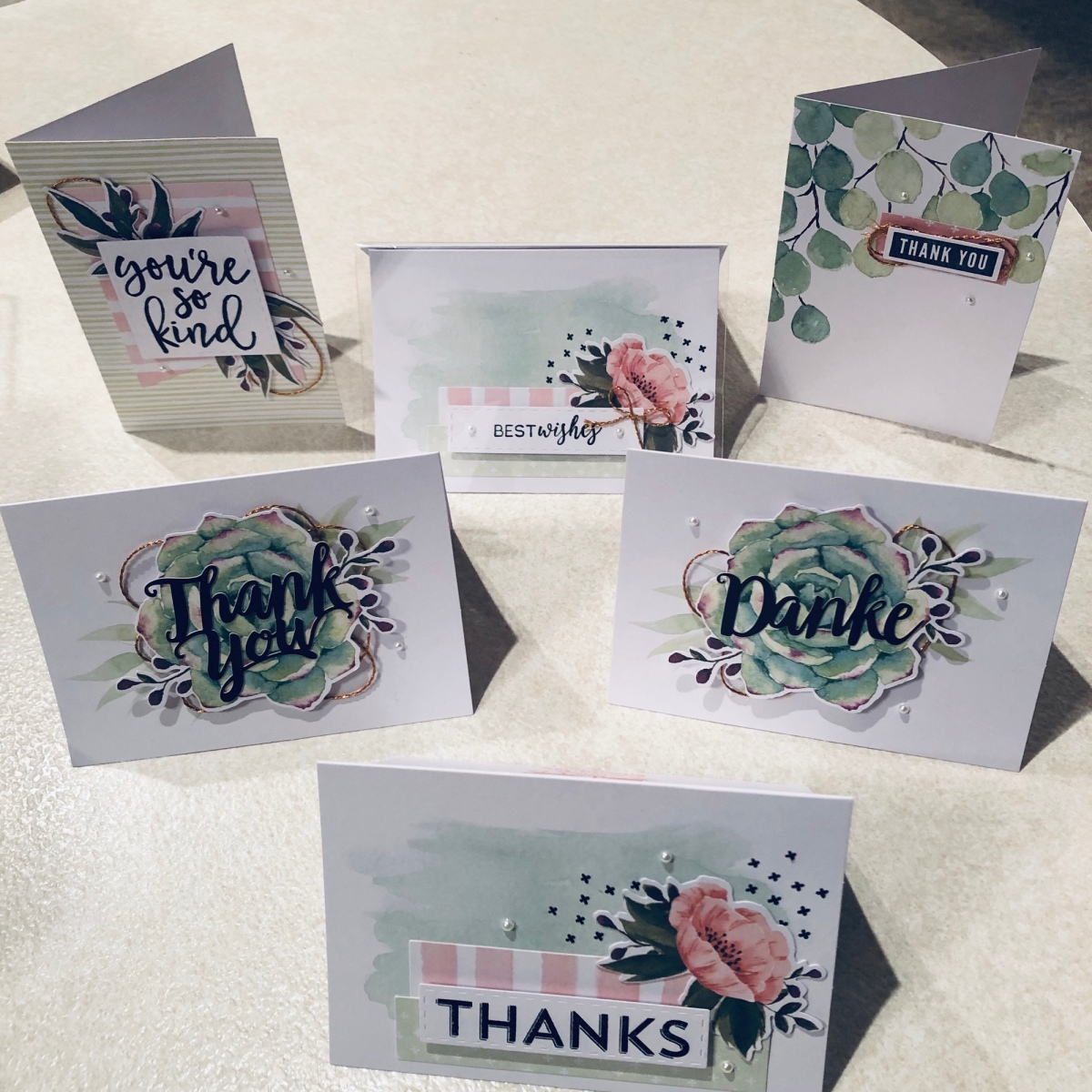 Cards from the Notes of Kindness Kit with Variations