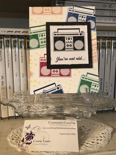"You're Not Old…You're Retro! (""Free Cake"" Birthday Stamp Set from Stampin' Up)"