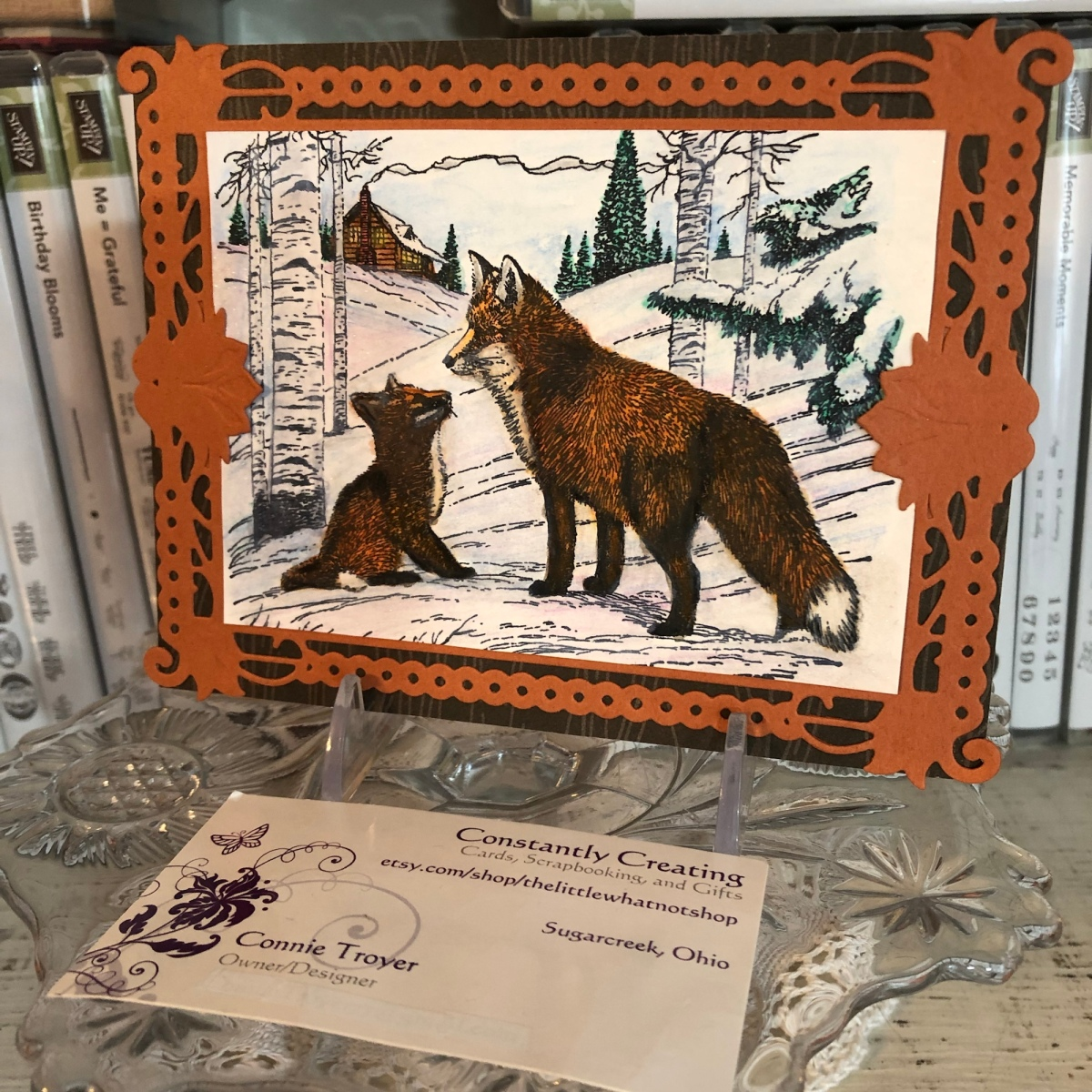 Red Foxes in Winter Special Birthday Card