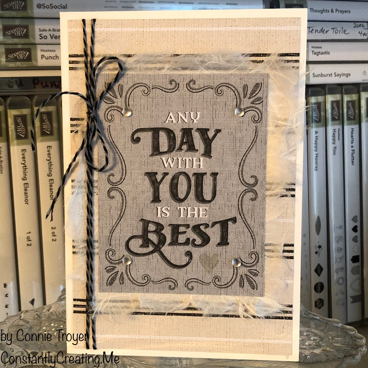 Masculine/Unisex Card with Stampin' Up's Come Sail Away Memories and More Card Pack for Stamp with Amy K's Tuesday Blog Hop
