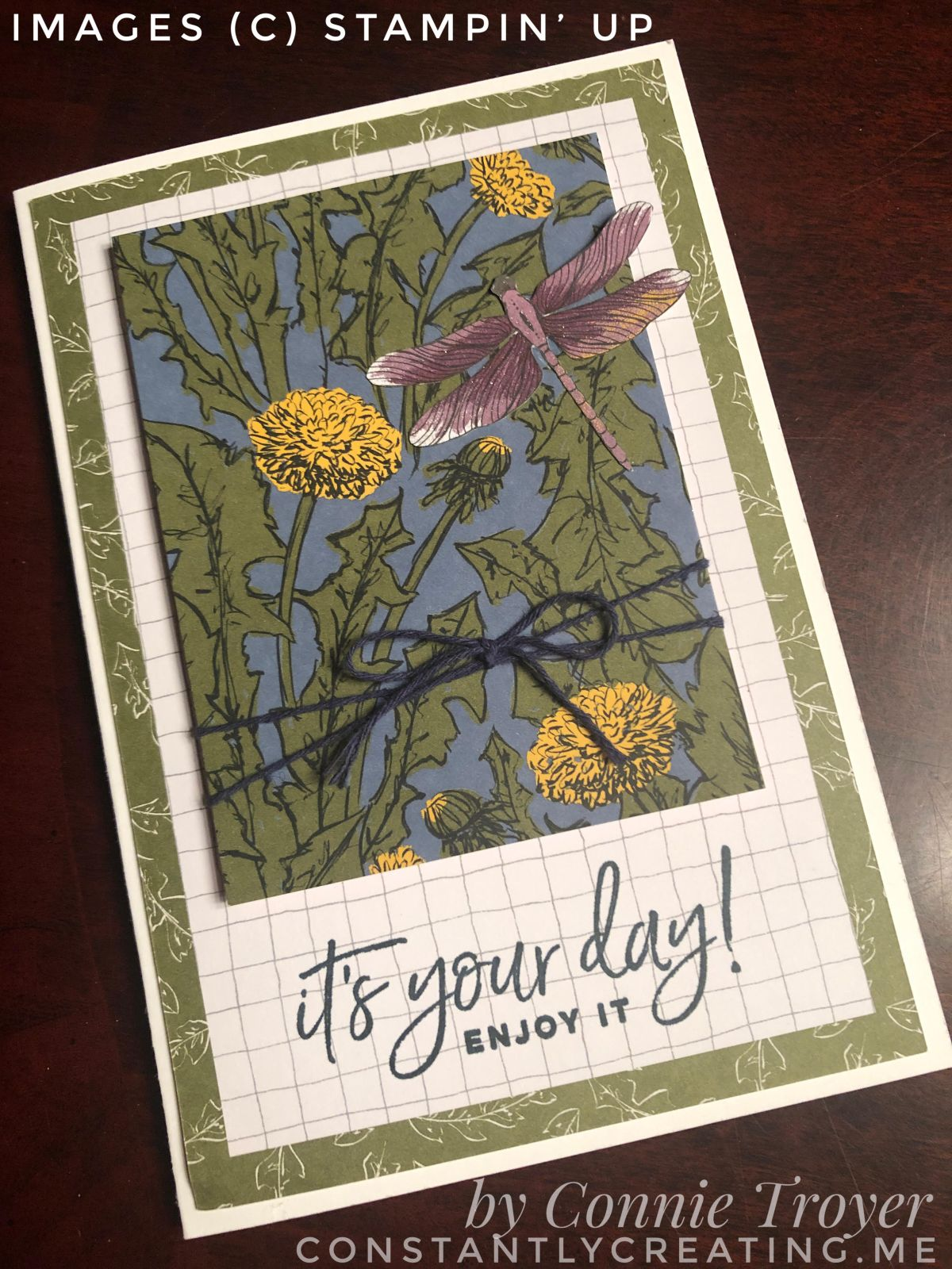Birthday Wishes with Stampin' Up's Dandy Garden Memories and More for Amy's Inkin' Krew Blog Hop